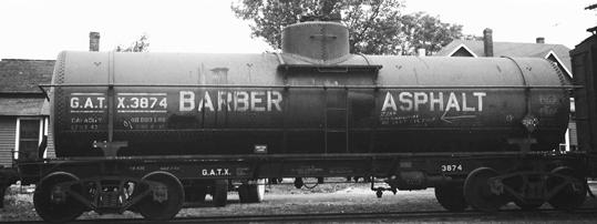 Barber Gcx : Lettering for 8,000 riveted tank car