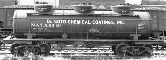 lettering set for DeSoto Chemical Coatings - 3-dome tank cars